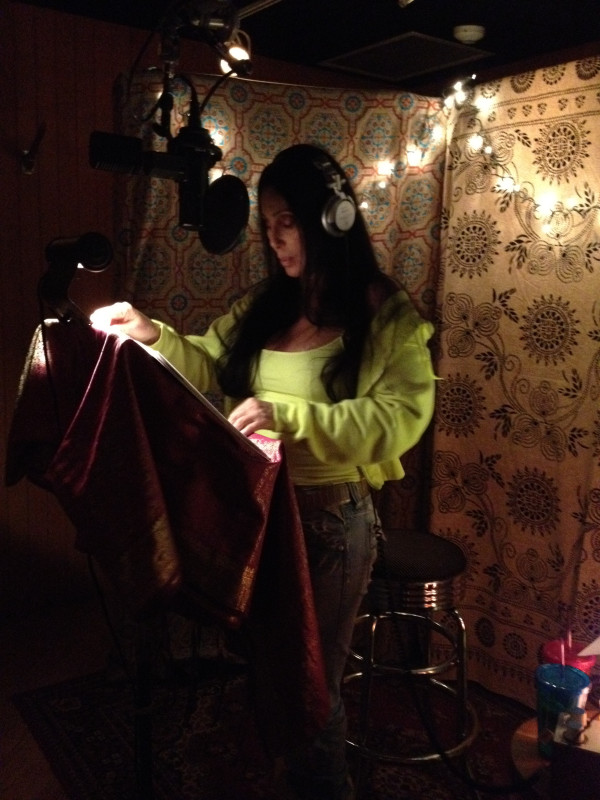 cherrecording1 Cher posts photos from Recording Studio