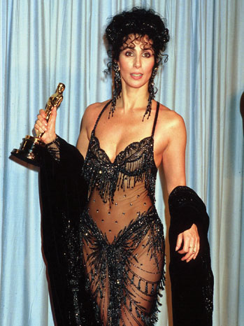 cheroscars5 Chers Dazzling Oscar Fashion Past