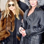 cherparisfergie3 150x150 Cher at Balmain runway show Paris with Fergie