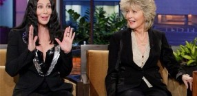 Cher and Georgia Holt Jay Leno