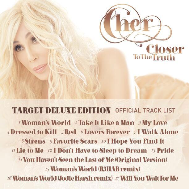 cherdeluxetracklist Cher Reveals Deluxe Tracklisting