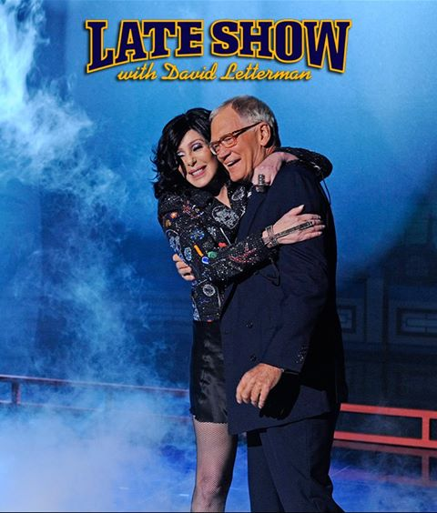 Cher and David Letterman