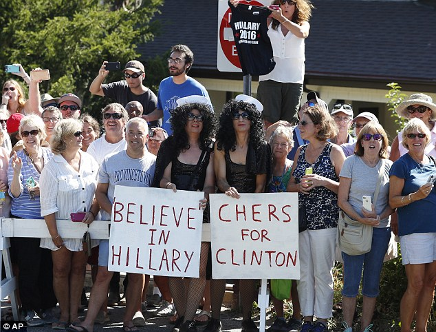 Cher Clinton Rally
