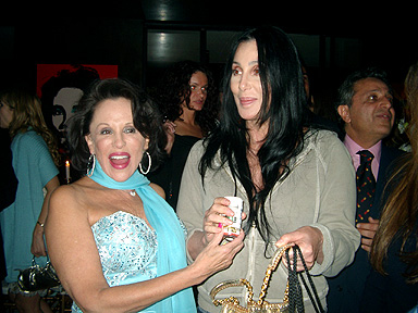 Cher parties with friends