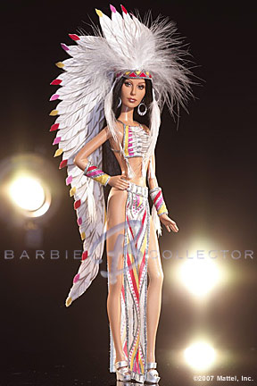 cherbarbie2 NEW 2007 Cher Bob Mackie Barbie Dolls