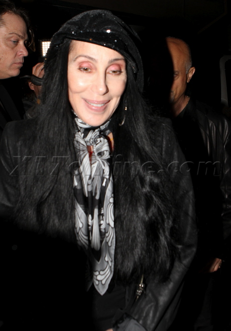 cher51 Cher steps out with son's Chaz and Elijah VIDEO