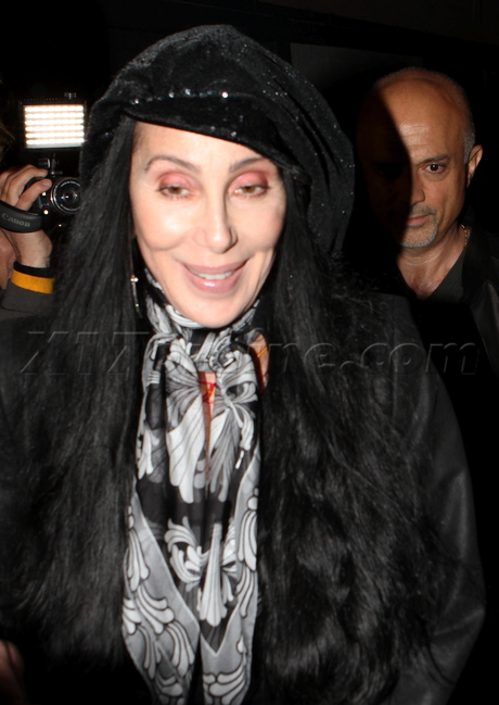 cher61 Cher steps out with son's Chaz and Elijah VIDEO