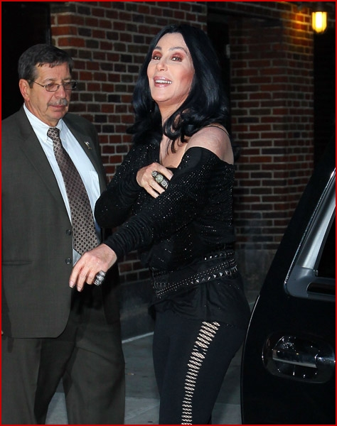 cherletterman3 Cher on Late Show with David Letterman