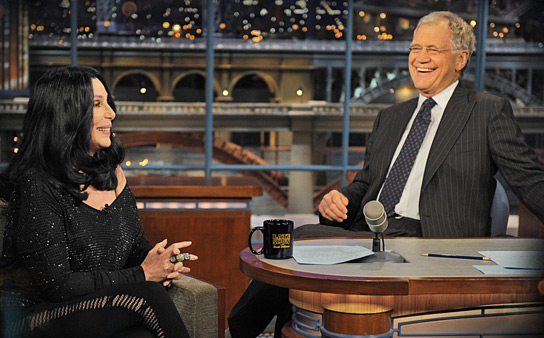 Cher on Late Show with David Letterman 2010