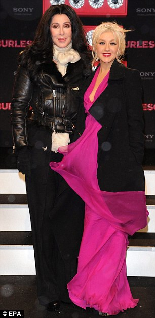 Cher and Christina Aguilera Burlesque Premiere Germany 2010